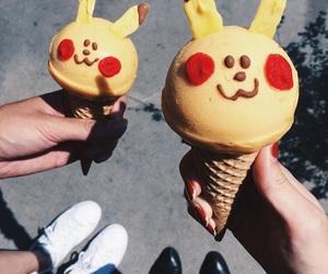 ice cream, pikachu, and pokemon image