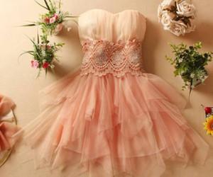 dress, fashion, and peach image
