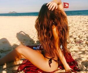 beach, bikini, and praia image