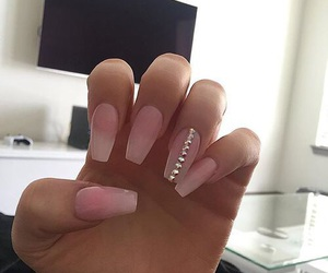 nails, pink, and style image