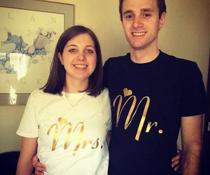 his and hers, couple shirts, and matching shirts image