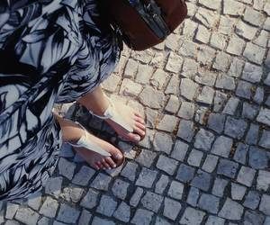 fashion, jumpsuit, and sandals image