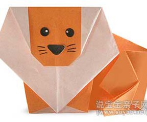 lion, origami, and origami lion image
