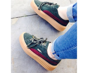 creepers, fashion, and green image