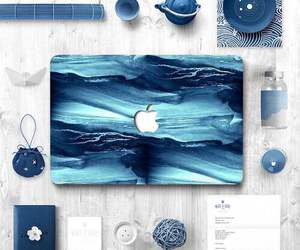 blue, apple, and laptop image