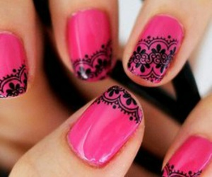 flowers, trend, and nails image