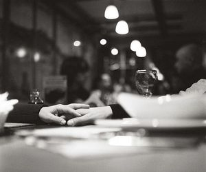b&w, love, and dinner image