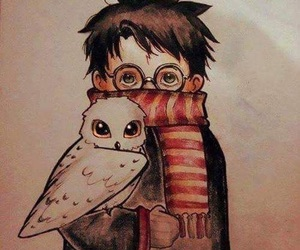 harry potter, art, and book image