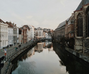 city, travel, and river image