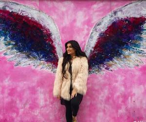 Hot, pink, and wings image