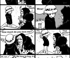 corazon, Law, and one piece image