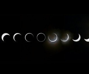 moon, night, and eclipse image