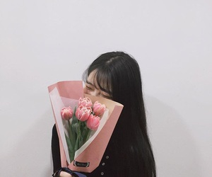 flowers, ulzzang, and girl image