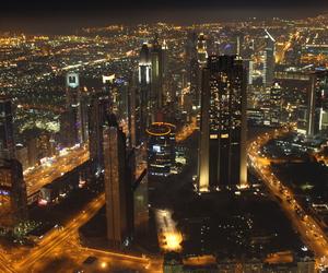 city, Dubai, and light image