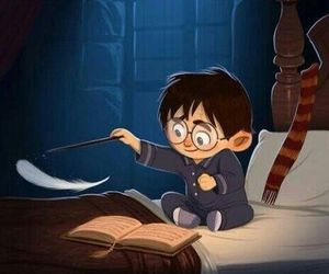 harry potter, magic, and hogwarts image