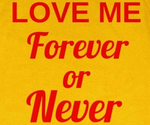 love, yellow, and forever image