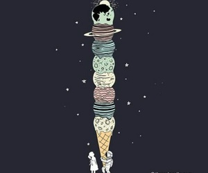 planet, space, and ice cream image