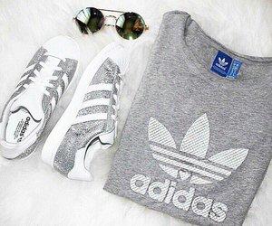 adidas, grey, and shoes image