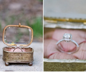 wedding, ring, and vintage image