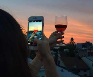 sunset and wine image