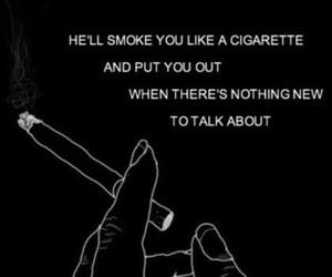 black, cigarette, and illustration image