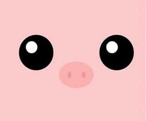 wallpaper, pig, and pink image