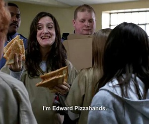 pizza, orange is the new black, and funny image