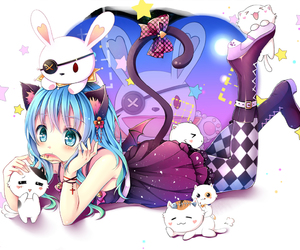 anime, cat, and neko image