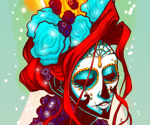 day of the dead and dia de los muertos image