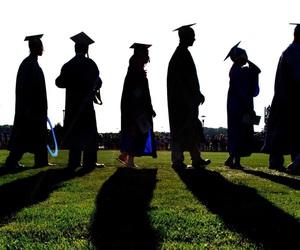 college, graduation, and graduate image