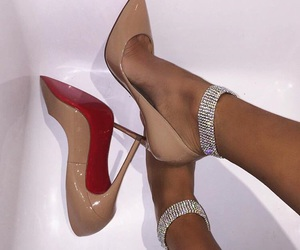 fashion, girly, and louboutin image