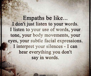 quotes and empath image