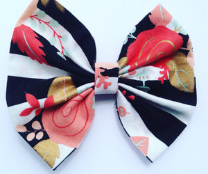 bows, floral print, and flower print image