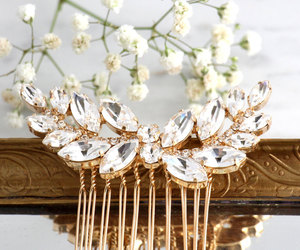 bridal, hair accessories, and hair jewelry image