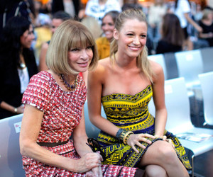 Anna Wintour, blake lively, and fashion show image