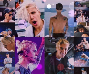 Collage, company, and justin bieber image