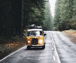travel, forest, and road image