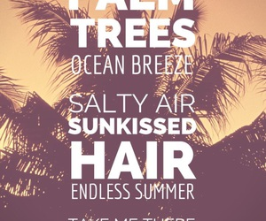 palm trees, summer, and ocean image
