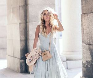 blonde, dress, and fashion image