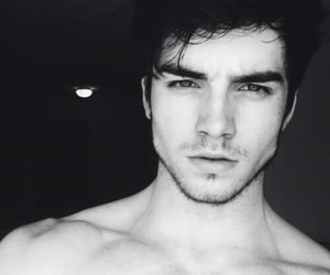 boy, Hot, and black and white image