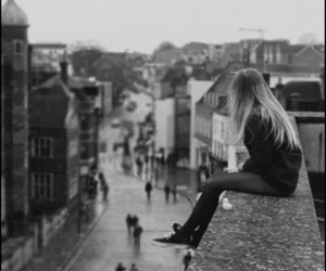 alone, awesome, and black and white image