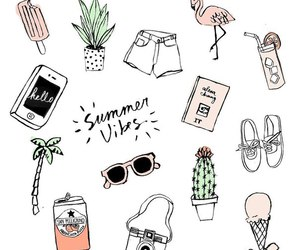 drawing, summer, and summer vibes image