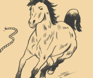quote, horse, and drawing image