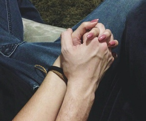 couple, hands, and Relationship image