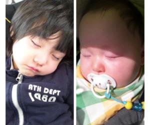 baby boy, sleeping, and ulzzang image