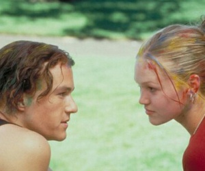 heath ledger, Julia Stiles, and 10 things i hate about you image