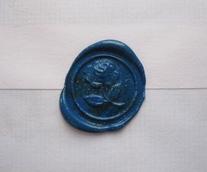 blue, Letter, and rose image