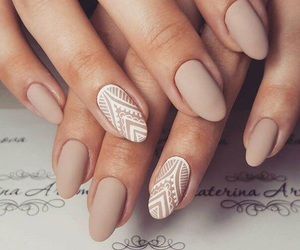 beige, long nails, and nails image
