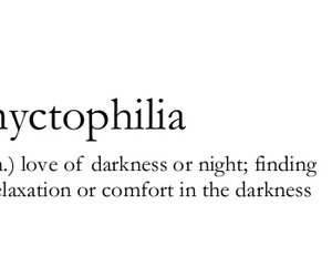 Darkness, definition, and nyctophilia image