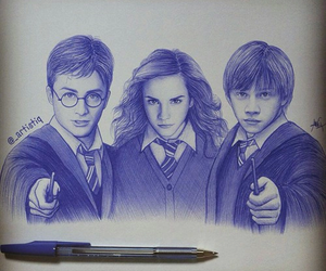 harry potter, drawing, and harry image